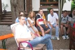 Kronprinzparty mit Fass-Probesitzen 2005
